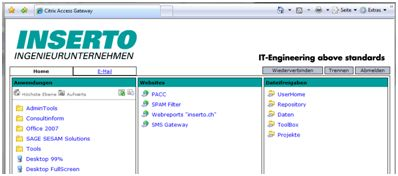 Angepasster LogonPoint - Portal